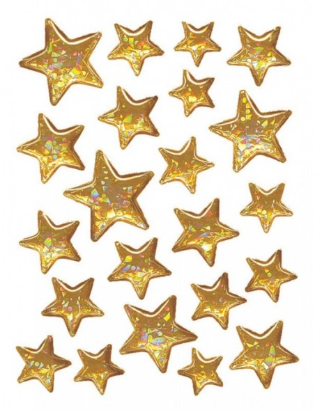 DECOR stickers Christmas stars Stone 1 sheet