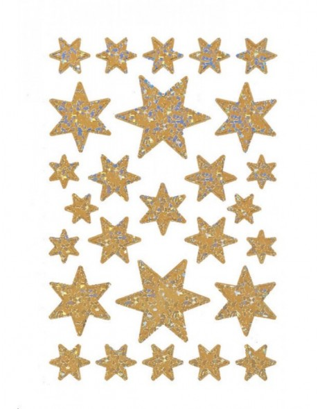 DECOR stickers stars pearlized silver foil 1 sheet