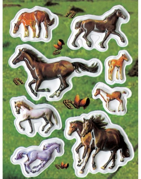 Decorative label MAGIC wild horses,  Popup 1 sheet