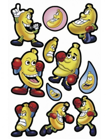 Decorative labels MAGIC Funny Bananas Waggle Eyes 1 sh.