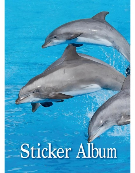 sticker album Delfine A5 vertical format