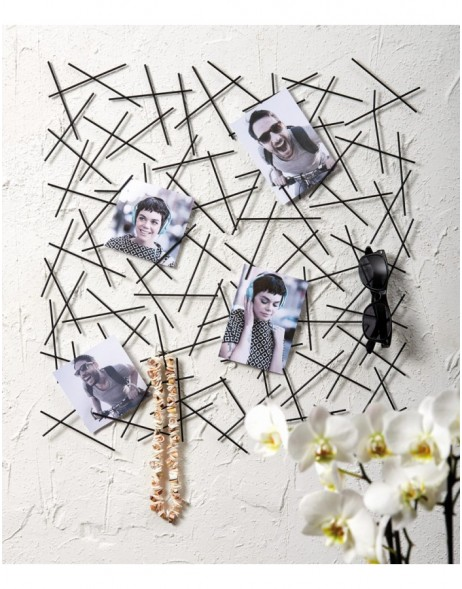 People metal memo board, black