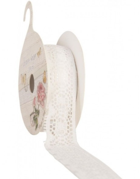 lace trim band 20mm x 100 cm - rose