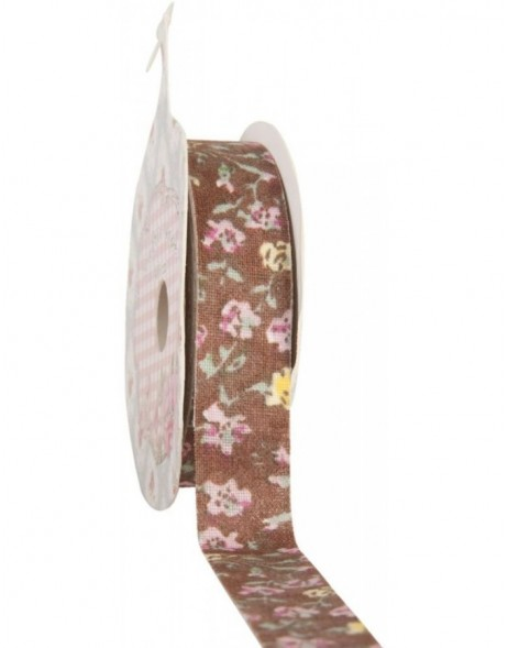 decoration tape 15mm x 500 cm - brown/illustrated