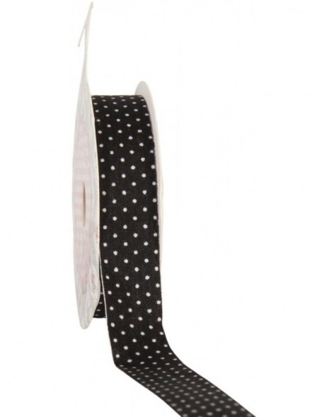 decoration tape 15mm x 500 cm - black/white dots