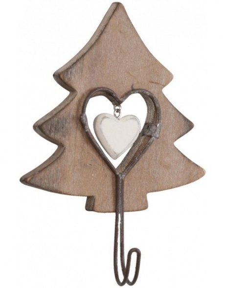 FIR TREE wooden hook 10x13 cm