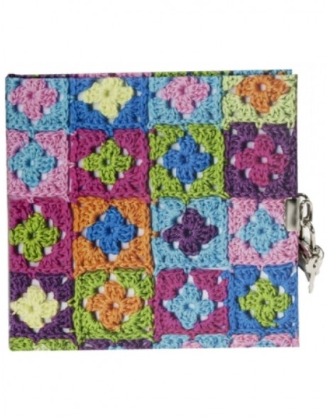 Granny Squares diary coloured