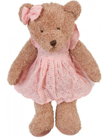 Teddy bear pink dress 43 cm
