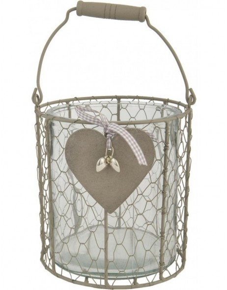 lantern 17,5 x 31 cm with heart