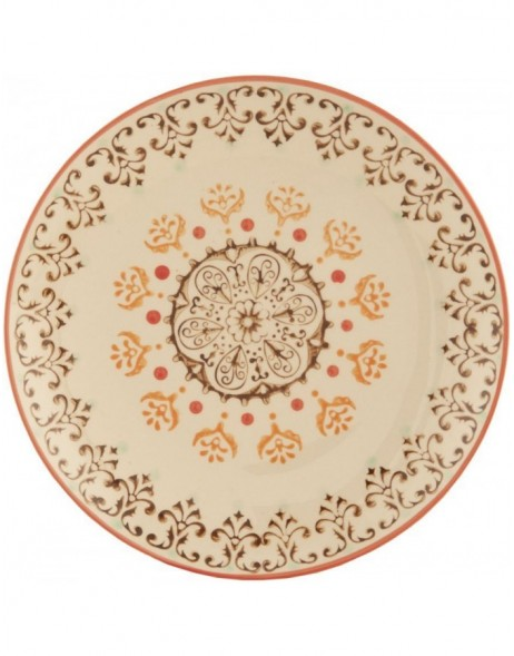 plate Ø 20 floral - Colourful Patterns