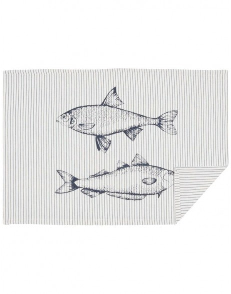 Table set 6 piece 48x33 cm Boat and Fish