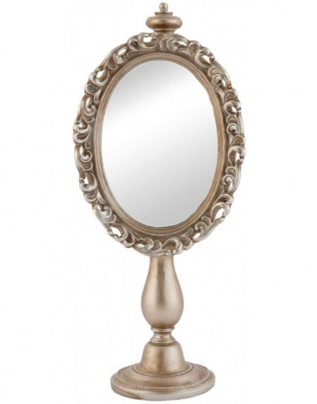table mirror 62S068 Clayre Eef 14x9x34 cm