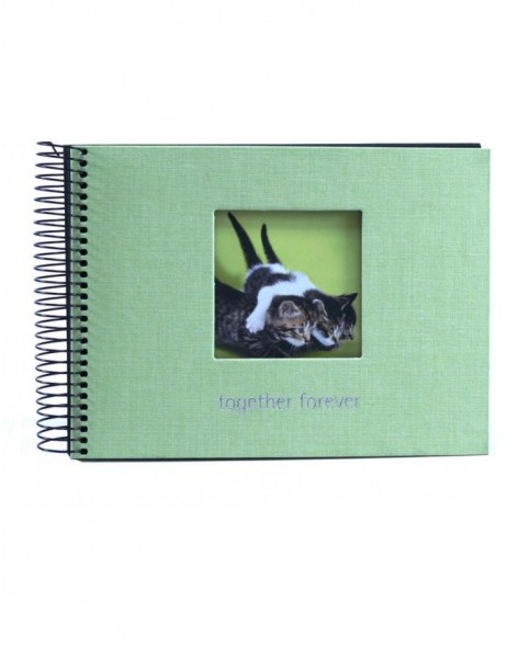 Together forever green spiral bound photo album