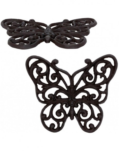 trivet BUTTERFLY brown - 6Y1793 Clayre Eef