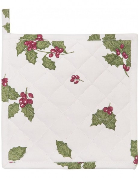 Topflappen 20x20 cm Holly Leaves