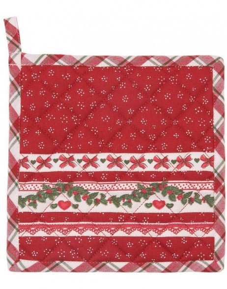 Potholder Christmas garland red