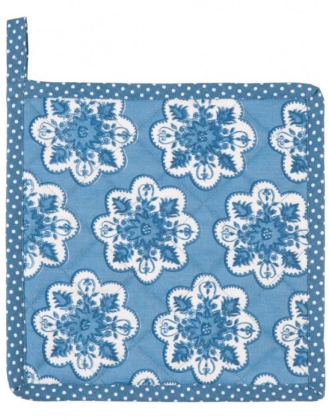 Potholders Mixed Patterns blue 20x20 cm