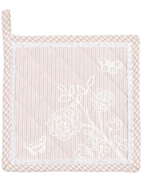 Potholders ROMANCE antique pink