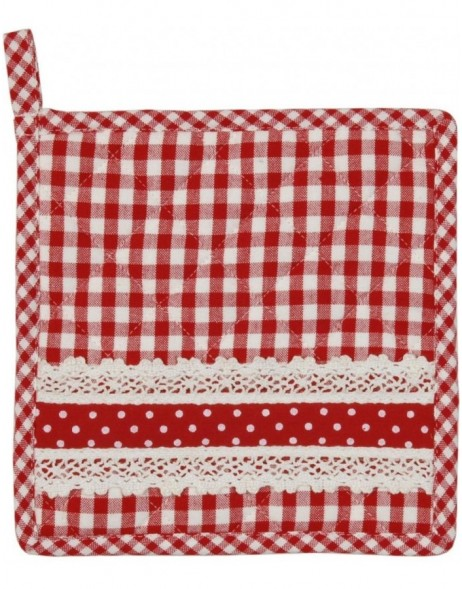 Potholder red Flower Basket 20x20