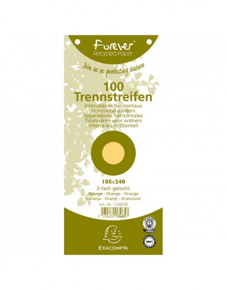 Trennstreifen Recycling 190g orange