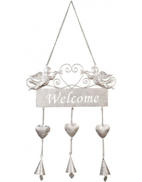 door decoration WELCOME silver - 6Y1309M Clayre Eef