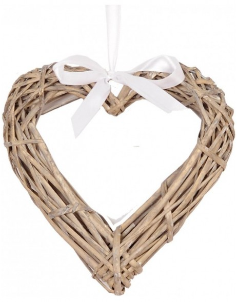 HEART door wreath  natural - W4RO0117 Clayre Eef
