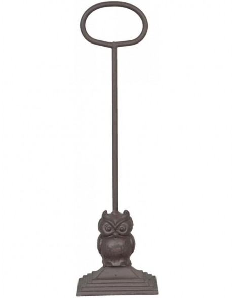 OWL door stopper brown - 6Y1501 Clayre Eef
