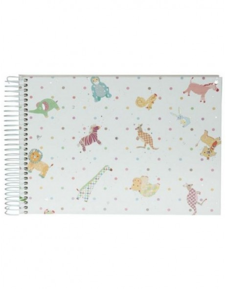 spiral bound baby album FUNNY ANIMALS