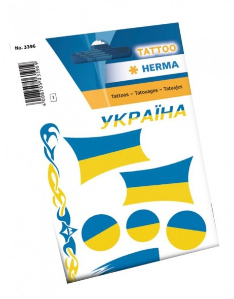 Tattoos ukraine flaggs