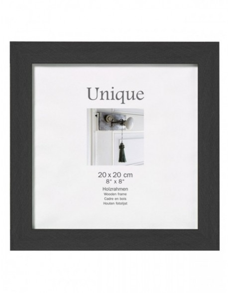 Picture frame UNIQUE 5 - black, 13x13 cm, wood