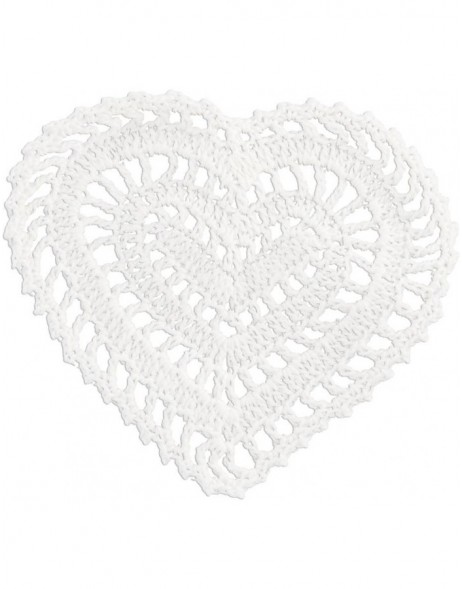 heart-shaped trivet white 11 cm