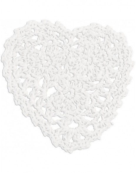 heart-shaped trivet white CR0064