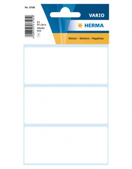 Multi-purpose labels 36x82mm white 21 pcs.
