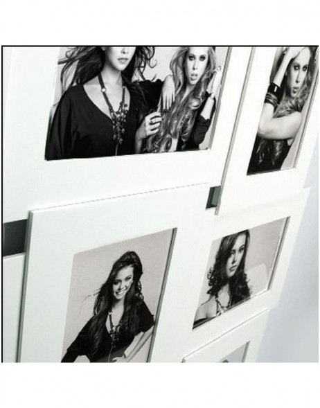 VICENZA gallery frame 9 photos 10x15 cm white
