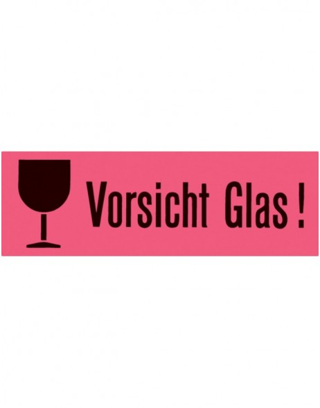 Caution labels Vorsicht Glas  39x118mm 1000 pcs.