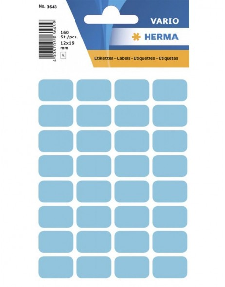 Multi-purpose labels 12x19mm blue 160 pcs.