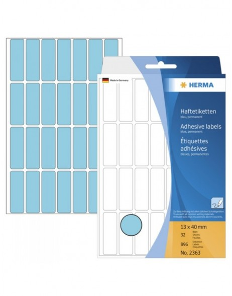Multi-purpose labels 13x40 blue 896 pcs.