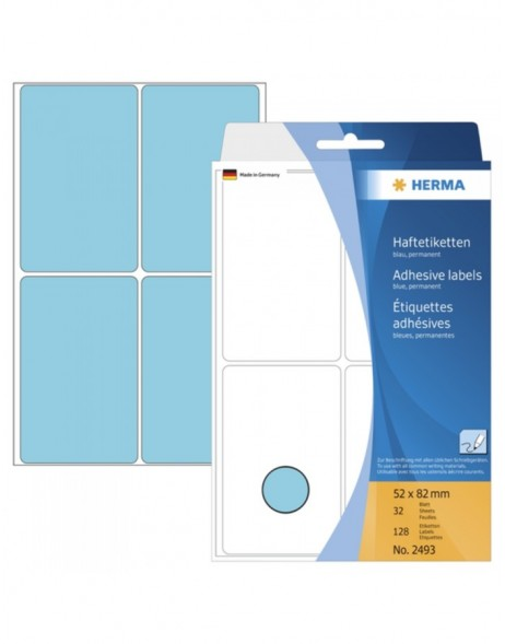 Multi-purpose labels 52x82mm blue 128 pcs.