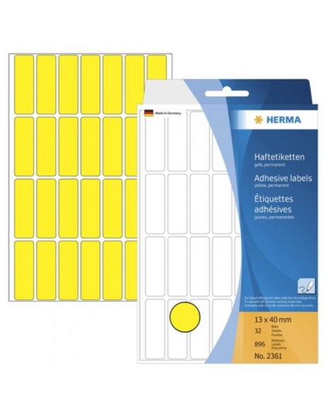 Multi-purpose labels 13x40 yellow 896 pcs.