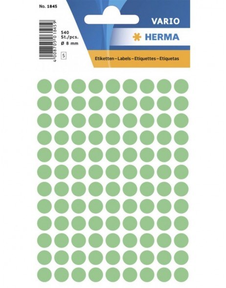 Multi-purpose labels ø 8mm green 540 pcs.
