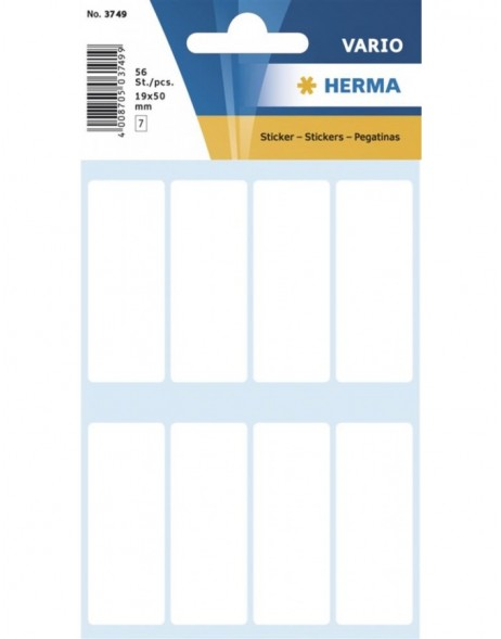 Multi-purpose labels 19x50 mm white 56 pcs.