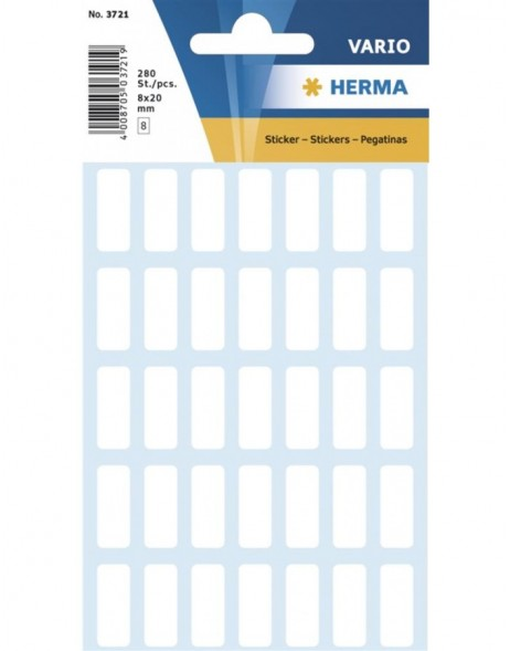 Multi-purpose labels 8x20mm white 280 pcs.