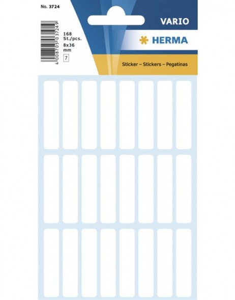 Multi-purpose labels 8x36mm white 168 pcs. for slides