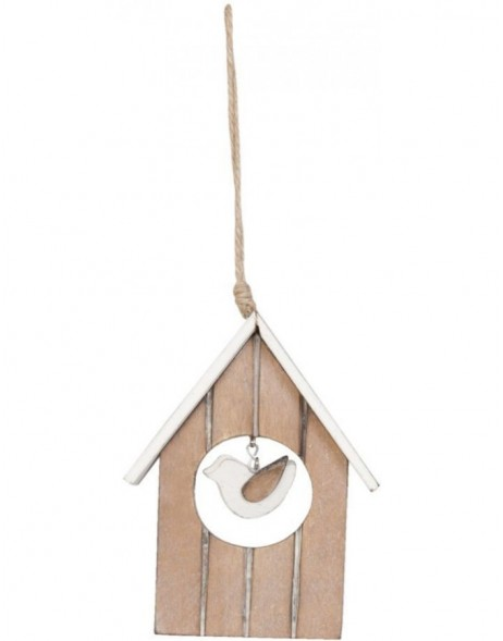Bird house 6H0741CH Clayre Eef in the size 14x2x10 cm