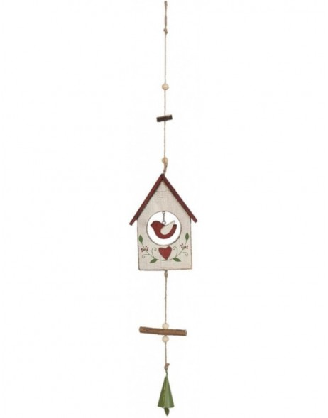 Bird house 6H0758W Clayre Eef in the size 10x2x43 cm