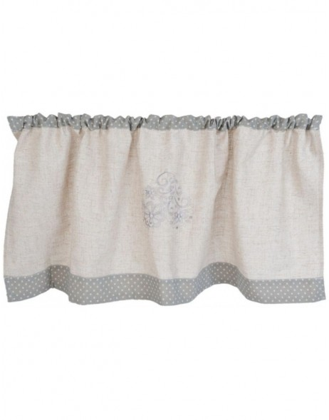 curtain beige/grey - KT058.023 Clayre Eef