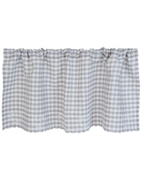 curtain grey checked - KT058.019 Clayre Eef