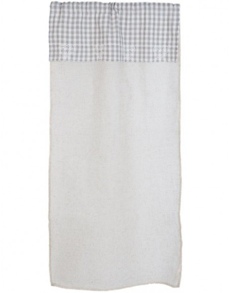 curtain grey checked - KT058.020 Clayre Eef