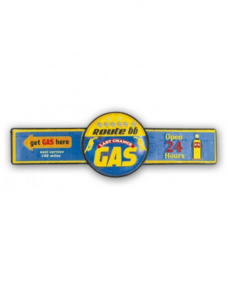 Wanddekoration Blechschild GAS