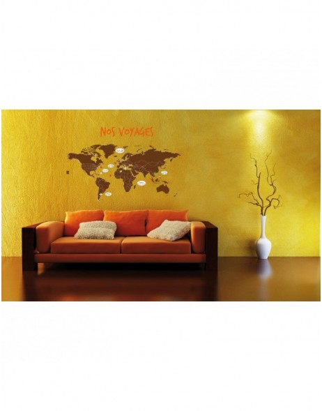 wall stickers Nos voyages 49x69 cm